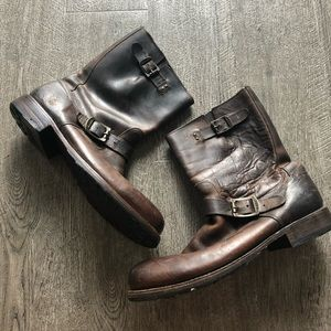 brown frye boot 11